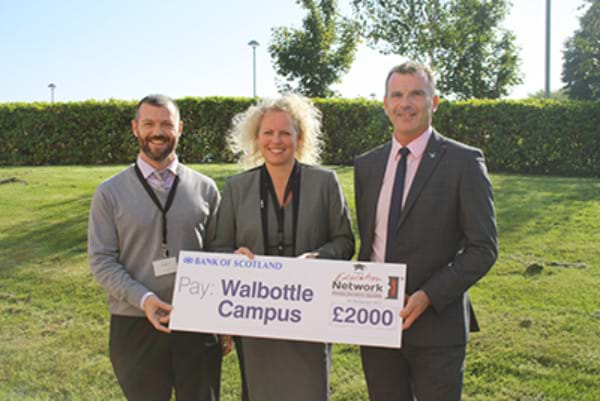 £2000 Donation to Walbottle Campus