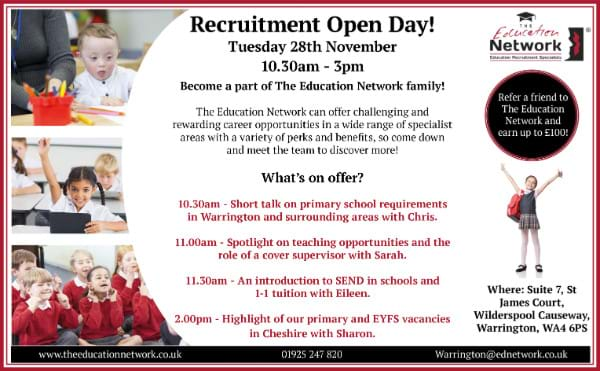 Join us at our Recruitment Open Day in Warrington!